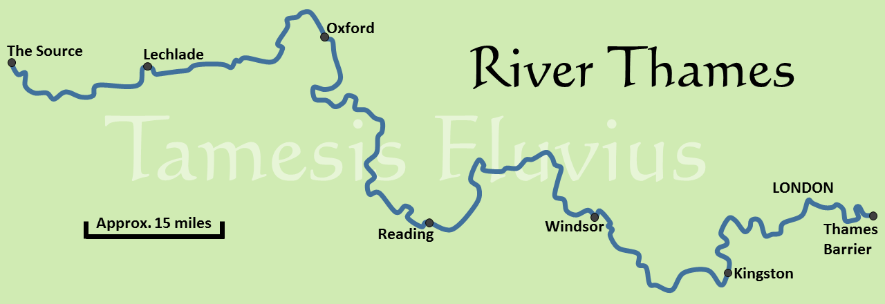 Basic Map Of London.Introduction Tamesis Fluvius The Thames Path